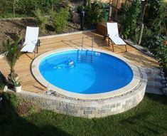 Above Ground Pool Ideas - In the summer, people like spending few hours in the swimming pool. However, you may hate the way your above ground pool looks in your backyard. Above Ground Pool Landscaping, Above Ground Pool Decks, Backyard Pool Landscaping, In Ground Pools, Backyard Ideas, Landscaping Ideas, Back Yard Pool Ideas, Garden Ideas, Garden Guide