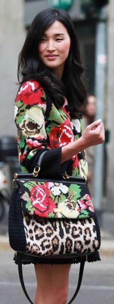 Dolce & Gabbana floral fashion ♥✤
