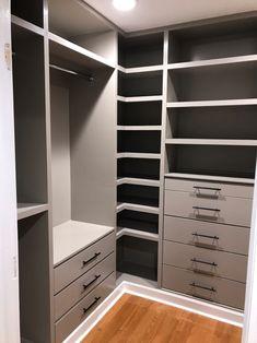 DIY Custom Closet - IKEA TARVA & IVAR HACK - Handmade Weekly Wardrobe Room, Wardrobe Design Bedroom, Master Bedroom Closet, Small Wardrobe, Small Closets, Small Walk In Closet Ideas, Diy Closet Ideas, Small Master Closet, Open Closets