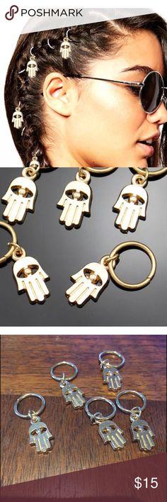 JUST IN  DREADLOCKS/BRAID JEWELRY 5 gold tone HAMSA jewelry for hair. Accessories Hair Accessories