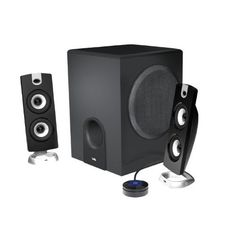 Cyber Acoustics Subwoofer Satellite System (CA-3602) with Mini Tool Box (cog) by Cyber Acoustics. $179.98. Enjoy the thunderous bass response from the CA-3602 speaker system by Cyber Acoustics. This three-piece system includes two 2-inch satellite speakers and a 5.25-inch subwoofer with a throw voice-coil and tuned port for an enhanced response. The sleek design of the satellite speakers will compliment any desktop computer or any small entertainment system. Convenientl...