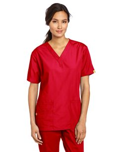 6ea743f008a WonderWink Women s Scrubs Bravo 5 Pocket V-Neck Top