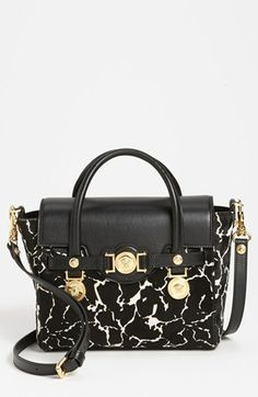 Versace  Classic  Calf Hair  amp  Leather Satchel available at  Nordstrom  Diva Fashion 962116704ad3a