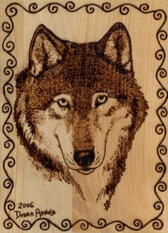 Free Printable Wood-Burning Patterns | Woodburning Wolf Portrait by ~DebsDen on deviantART