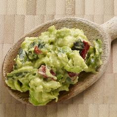 This easy, six ingredient guacamole gets a kick from fire-roasted chiles.