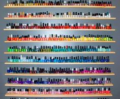 I think I've died and gone to nail polish heaven! Love Nails, How To Do Nails, Pretty Nails, Crazy Nails, Sexy Nails, Beauty Nails, Hair Beauty, Beauty Stuff, Acryl Nails