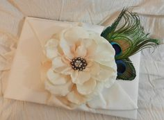 Bloom Collection Ivory and Peacock Wedding by DESIGNERSHINDIGS, $46.00