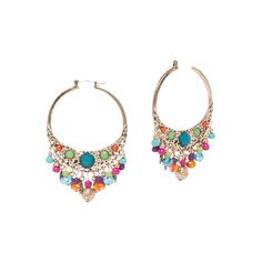 I love the Carol Dauplaise Fringe Hoop Earrings from LittleBlackBag