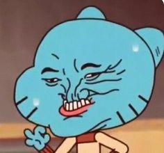 gumball is life Cartoon Icons, Cartoon Memes, Cartoons, Meme Faces, Funny Faces, Stupid Funny Memes, Haha Funny, Diy Funny, Memes Humor