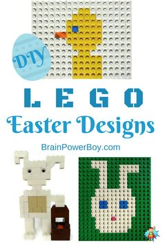 Build some cute LEGO Easter projects. 3 fun projects that you can really build. 2 LEGO Easter Bunny projects and a LEGO Mosaic Easter Chick. Lego Activities, Activities For Boys, Easter Activities, Easter Projects, Lego Projects, Easter Crafts, Easter Ideas, Cute Easter Bunny, Hoppy Easter