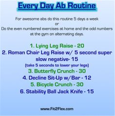Every Day ab routine via @CarissaAnneB @ColourfulPalate