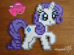 Rarity perler beads by RockerDragonfly on deviantart