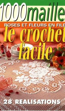 "Photo from album Mailles Nomero special hors-serie № 70 Roses et Fleurs"" on Yandex. Filet Crochet, Crochet Cross, Crochet Home, Crochet Motif, Irish Crochet, Crochet Stitches, Knit Crochet, Crochet Patterns, Book Crafts"