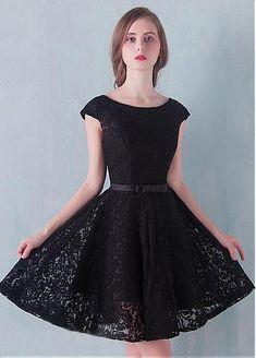 00447fbf389f4 Fantastic Lace Bateau Neckline A-Line Homecoming Dresses With Belt Fabric   Lace Details