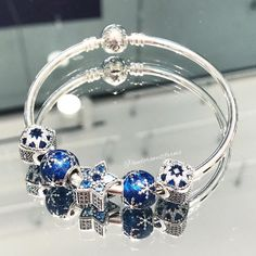 "316 Likes, 3 Comments - Pandora @ WestFarms Mall (@pandorawestfarms) on Instagram: ""The #new Bright Star charm makes the perfect centerpiece! Add shades of blue to complete the…"""