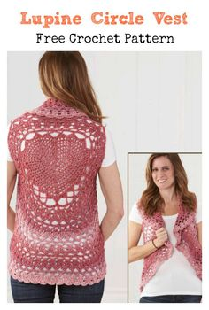 Crochet Patterns Blusas Lupine Circle Vest Free Crochet Pattern - This Lupine Circle Vest Free Crochet Pattern can help make this sweet circle vest with a lovely gradient effect created with self-striping yarn. Crochet Circle Vest, Crochet Vest Pattern, Crochet Circles, Crochet Shirt, Crochet Patterns, Crochet Edgings, Shawl Patterns, Crochet Motif, Black Crochet Dress