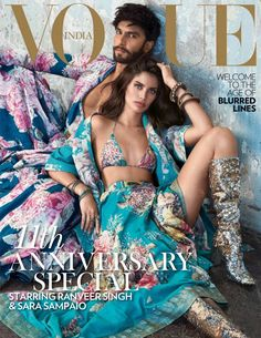 Sara Sampaio & Ranveer Singh on Vogue India October 2018 Cover Vogue India, Vogue Russia, Sara Sampaio, Vogue Photography, High Fashion Photography, Lifestyle Photography, Editorial Photography, Vogue Magazine Covers, Vogue Covers