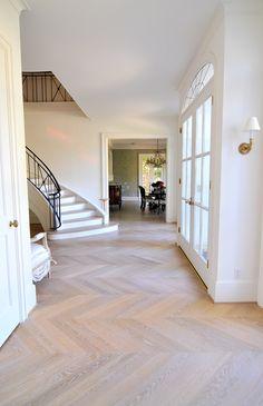 cheffron style wood floor