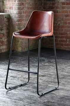 Jenna Swivel Leather Bar Stool Furniture Leather Bar