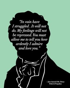 Mr Darcy Proposal, Jane Austen, Pride and Prejudice Print 8x10