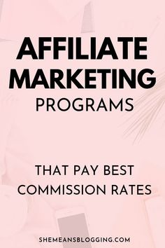 Are you looking for best affiliate programs to join? Start your affiliate marketing by joining these programs and get your affiliate links. Time to make affiliate income. Check out this post for affiliate programs that pay good commission rates. Affiliate Marketing, Marketing Program, Business Marketing, Online Marketing, Digital Marketing, Online Business, Marketing Videos, Facebook Marketing, Business Tips