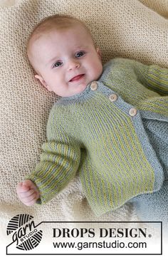 Ravelry: Little Fern pattern by DROPS design Baby Knitting Patterns, Knitting For Kids, Baby Patterns, Free Knitting, Finger Knitting, Scarf Patterns, Knitting Tutorials, Toddler Sweater, Knit Baby Sweaters