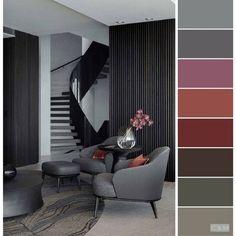 15 Color Palette Design Ideas For Your Home - Color Design Inspiration - Local Home US - Home Improvement Room Color Schemes, Room Colors, House Colors, Colours, Home Colour Design, Living Room Designs, Living Room Decor, Living Rooms, Palette Design