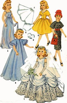 Vintage Doll Clothes Pattern 2342 for 20 inch Revlon Toni Sophisticate Cindy #McCalls