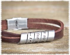 Men's Quote Jewelry  Men's Personalized Leather by SuedeSentiment, $45.00