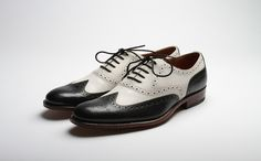 Grenson Dylan. Black & white wingtips. Oh yes.