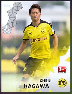 Shinji Kagawa Borussia Dortmund (Bundesliga) Silver Parallel Card 2016 Topps KICK