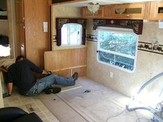 How To Remodel RVs & Motorhomes Yourself (...See How I Remodeled Two 5th Wheel Trailers) - The Fun Times Guide to RVing Diy Rv, Holiday, Bathroom, Summer, Ideas, Vacations, Summer Time, Vacation, Bathrooms