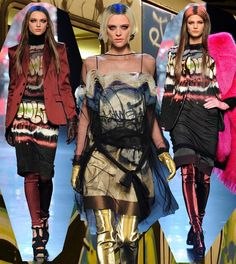 Fashion & Lifestyle: Graffiti Dresses... Jean Paul Gaultier Fall 2012 Womenswear