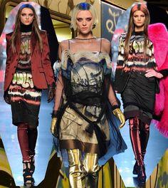 Fashion & Lifestyle: Graffiti Dresses... Jean Paul Gaultier Fall 2012 Womenswear
