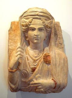 Funerary relief of a woman from Palmyra in Syria, and of 2nd- beginning of 3rd c.