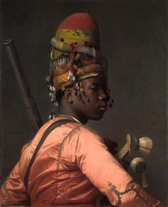 Jean-Léon Gérôme (French, 1824–1904). Bashi-Bazouk, 1868–69. The Metropolitan Museum of Art, New York. Gift of Mrs. Charles Wrightsman, 2008 (2008.547.1)   This arresting picture was made after Gérôme returned to Paris from a twelve-week journey to the Near East in early 1868. He was at the height of his career when he dressed a model in his studio with textiles he had acquired during the expedition. #OneMetManyWorlds