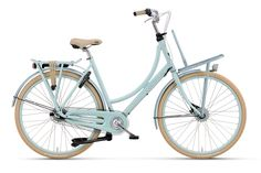 #Diva Plus, light blue, with #frontcarrier, perfect for your daily #Shopping tour