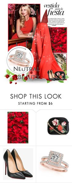 """1206"" by melanie-avni ❤ liked on Polyvore featuring New Look, Christian Louboutin and Allurez"
