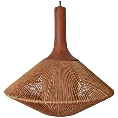 Vintage Danish Modern Rope Pendant | From a unique collection of antique and modern chandeliers and pendants  at http://www.1stdibs.com/furniture/lighting/chandeliers-pendant-lights/