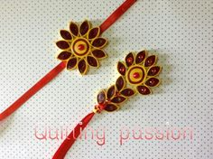 Quilled rakhi -lumba pair