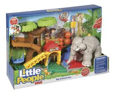 Fisher-Price Little People speelset Big Animal Zoo got as a gift for he boys