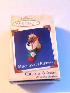 Hallmark Keepsake Ornament Mischievous Kitten 2003 5th Series