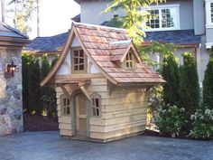 CUTE! Cottage Playhouse Plans - Download Now! #PlayhousePlans