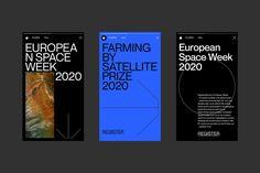 EUSPA / branding on Behance Social Media Branding, Social Media Design, Graphic Design Branding, Graphic Design Posters, Medical Design, Typography Layout, Space Program, Grafik Design, Graphic Design Inspiration