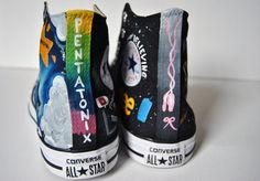 High top Pentatonix and Ballet themed Converse!