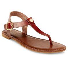 Women's Marissa Thong Sandals - Brown 6.5
