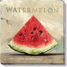 Gallery Wrap on Wood Frame ~ Watermelon