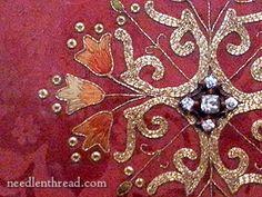 Embroidery at Shrewsbury Abbey