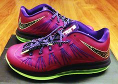 "Found on eBay: Nike Air Max LeBron X Low ""Raspberry Red"""