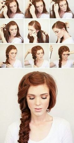 Wish my hair was still this long so I could do this to it! Love this!
